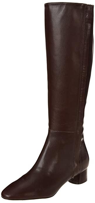Amazon.com | Nine West Women's Nicoh Boot, Dark Brown Leather, 6 M ...