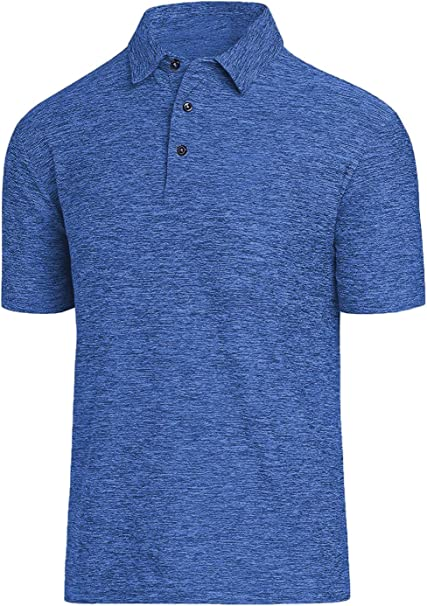 COSSNISS Men's Dry Fit Golf Polo Shirt