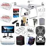 DJI Phantom 4 PRO PLUS (PRO+) Drone Quadcopter (Remote W/ Integrated Touch Screen Display) Bundle Kit with 2 Batteries, 4K Professional Camera Gimbal and MUST HAVE Accessories