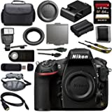 Nikon D810 DSLR Camera 1542 + 64GB SDXC Card + Universal Slave Flash unit + Mini HDMI Cable + Carrying Case + Wireless Universal Shutter Release Remote + Memory Card Wallet + Card Reader Bundle