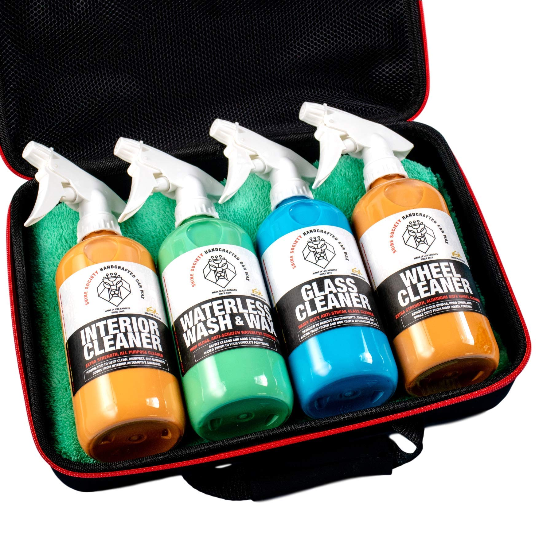Shine Society Complete Car Detailing Kit That Fits in Your Trunk