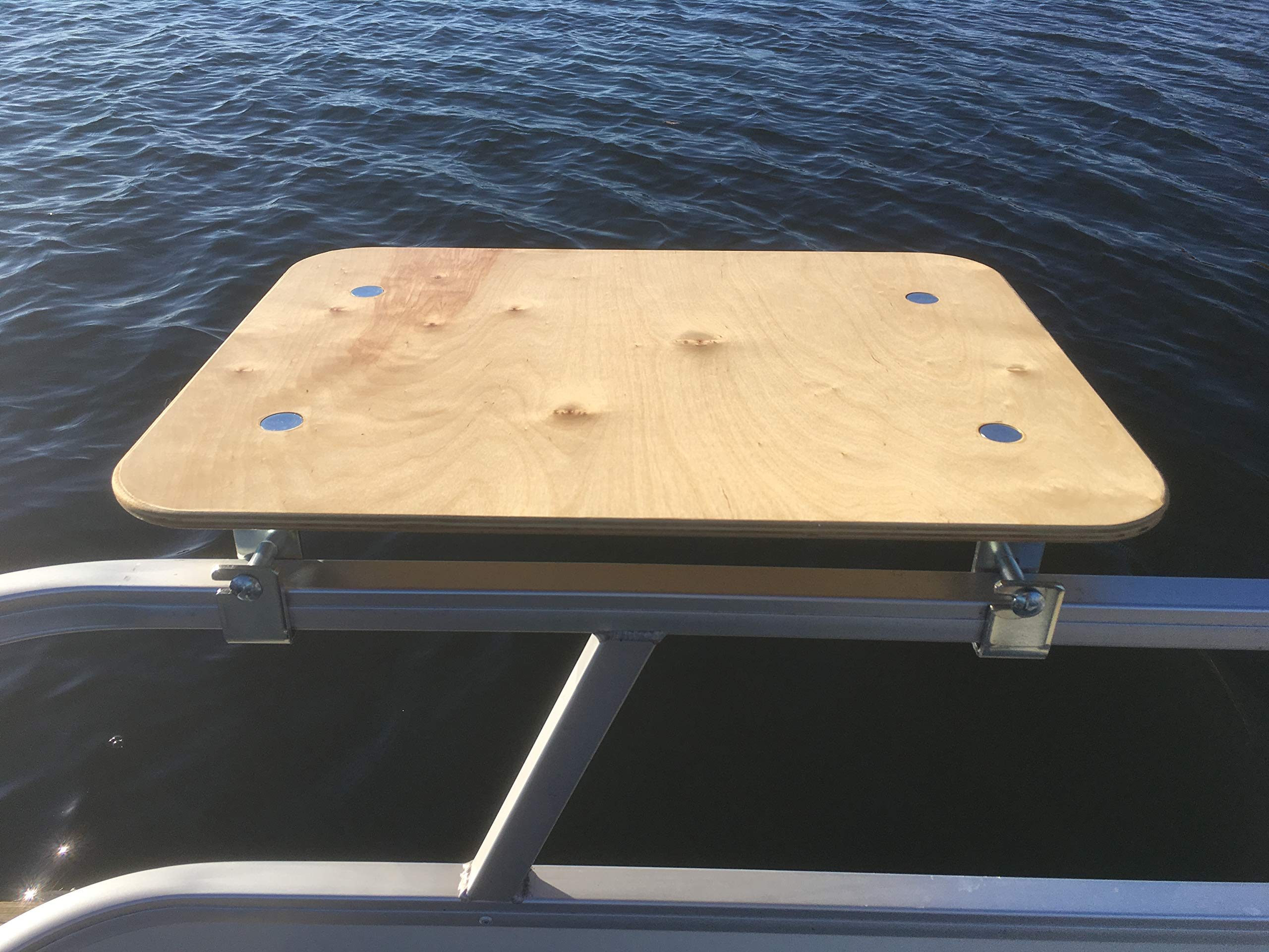 Arnalls Pontoon Boat Table - Boat & Marine Grill Accessory - Perfect for Pontoon Boats - Bracket Set Table - Pontoon Accessory - Multi-Use Table - Essential Boating Accessory - Portable - Utility Bar by Arnalls