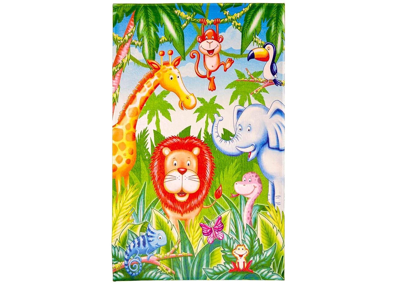 Spielteppich Einhörner   Kinderzimmerteppich Einhorn Regenbogen, Regenbogen, Regenbogen, Größe  100x160 cm, Kinderteppich für Mädchen B07H37FVQ8 Teppiche & Lufer 0914be