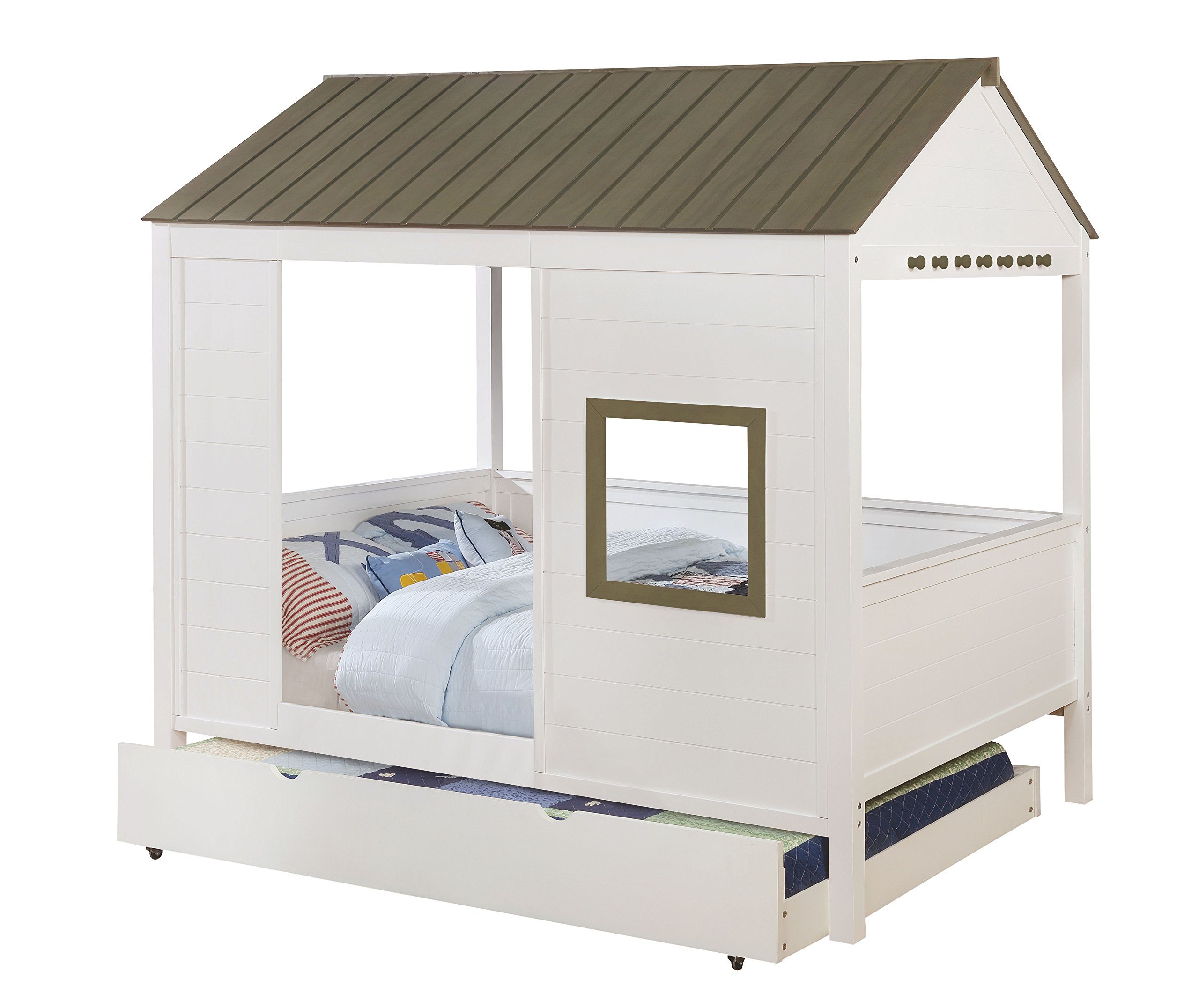 HOMES: Inside + Out IDF-7133 Corbin House Bed Novelty Full