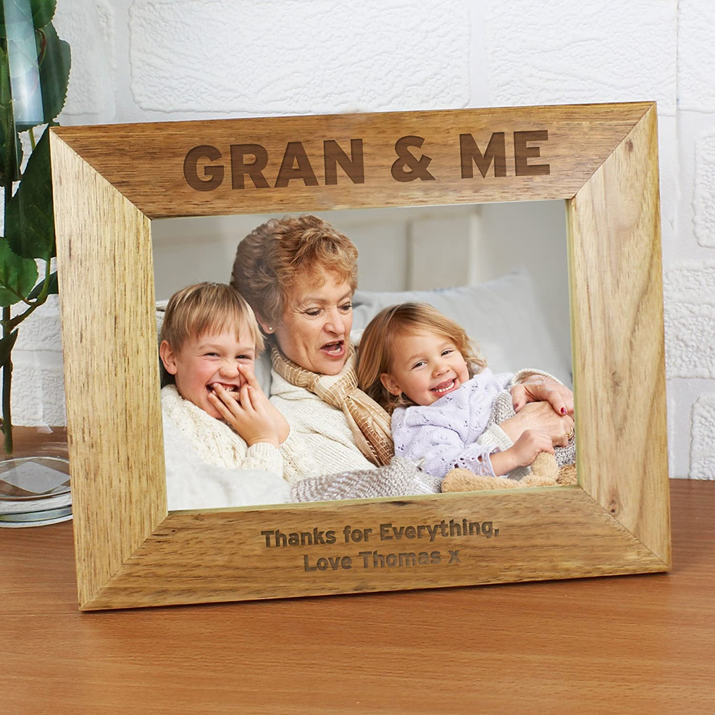 personalisierbar 7?x 5?Gran & Me Bilderrahmen, Holz,: Amazon.de ...