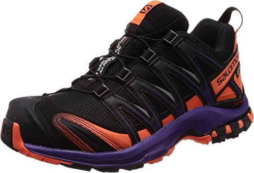Salomon XA Pro 3D GTX LTD W, Zapatillas de Trail Running para Mujer, Negro (Black/Nasturtium/Parachute Purple 000), 43 1/3 EU: Amazon.es: Zapatos y complementos