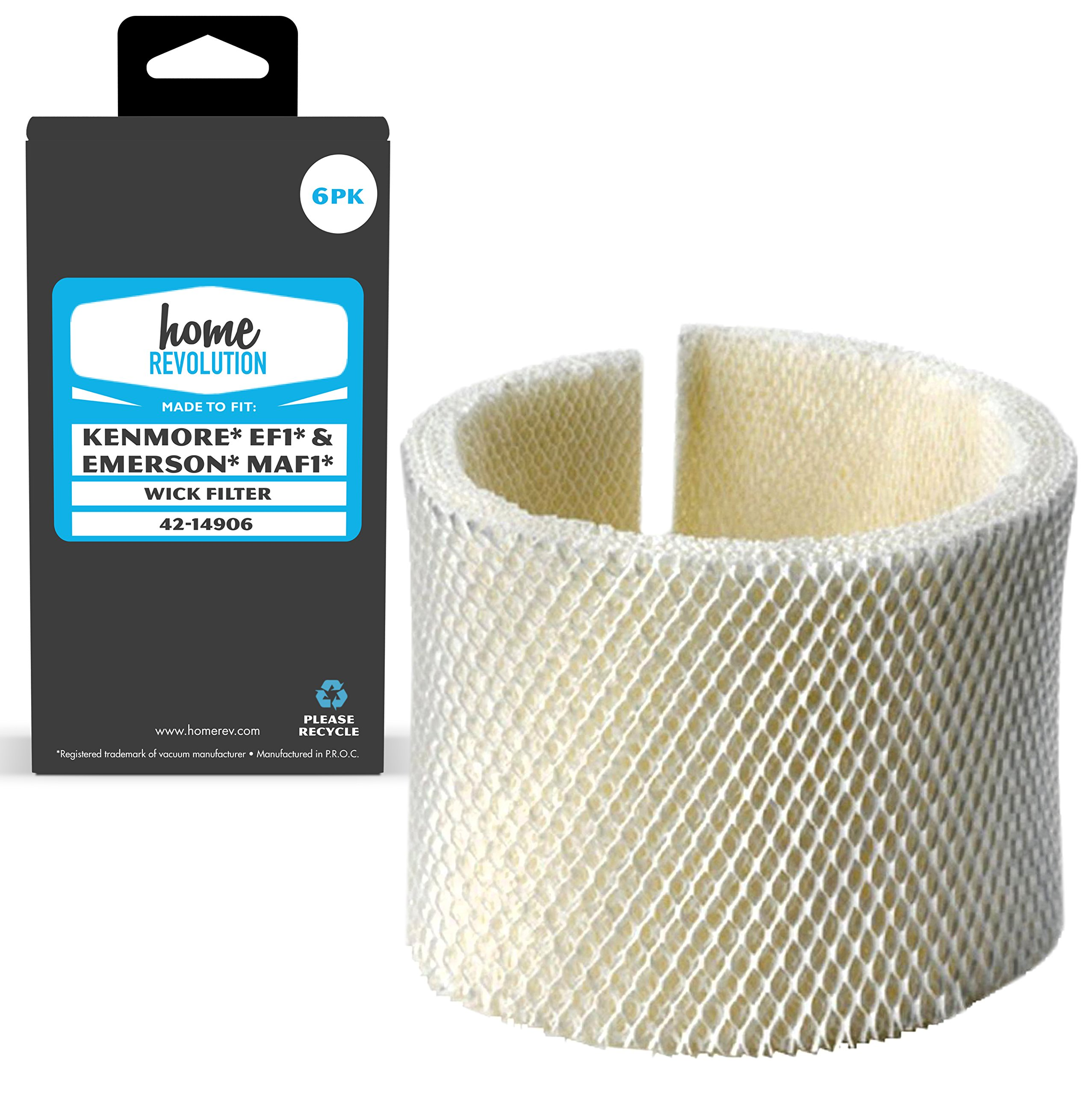 Home Revolution 6 Replacement Humidifier Filters, Fits Kenmore and Emerson Humidifier Models and Parts 42-14906 and MAF1 by Home Revolution