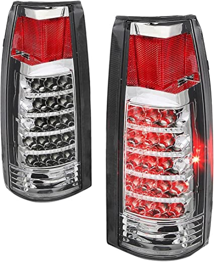 Driver Side Tail Light For C2500 88-00 Clear and Red Lens