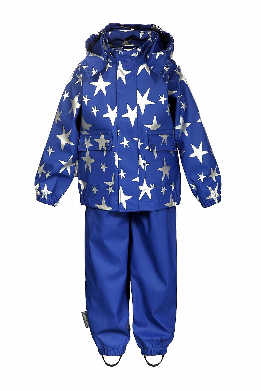 TICKET TO HEAVEN 2tlg. Regenanzug mit abnehmbarer Kapuze Jungen Mädchen ensign blue, 74, Blau Kinder 74 Blau Kinder 6616665-3890