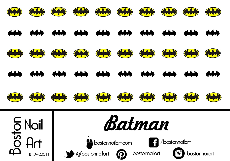 Batman Waterslide Nail Decals - 50pc by Boston Nail Art