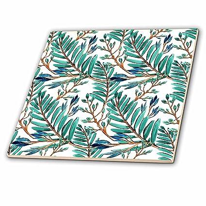 amazon com 3drose anne marie baugh patterns blue green tropical