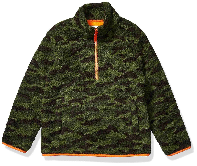 Camo Print 4T Essentials Quarter-Zip High-Pile Polar Fleece Jacket Outerwear-Jackets