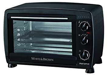 White & Brown MF 284 horno multifunción (26 L), color negro