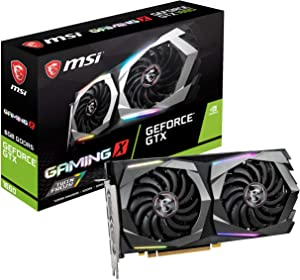 MSI Gaming GeForce GTX 1660 192-Bit HDMI/DP 6GB GDRR5 HDCP Support DirectX 12 Dual Fan VR Ready OC Graphics Card (GTX 1660 Gaming X 6G) (Renewed)