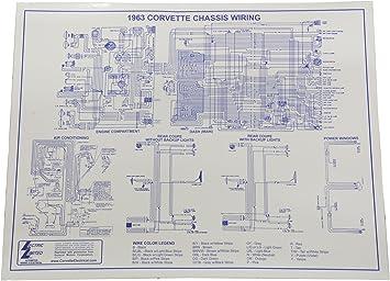 Amazon.com: 1963 Corvette Wiring Diagram 17 x 22 Laminated: AutomotiveAmazon.com