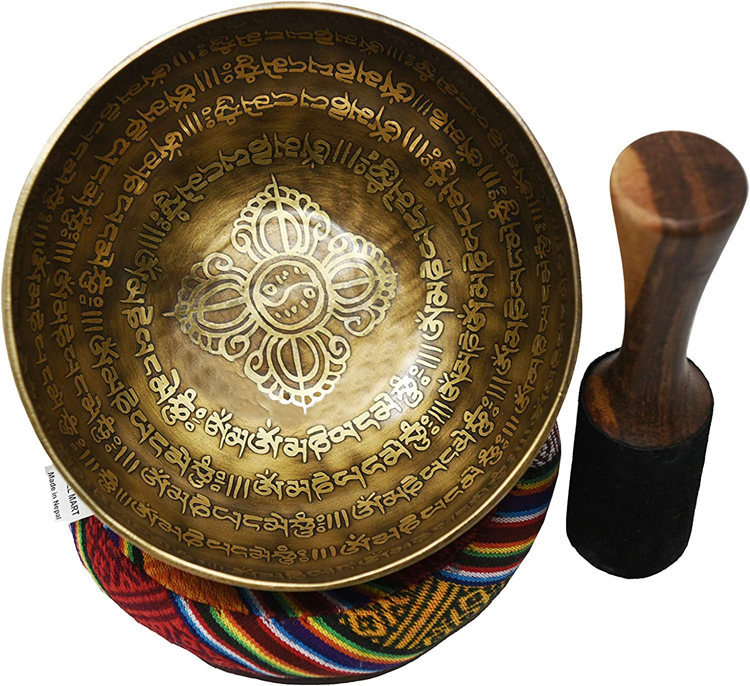 Healing Relaxation Therapy Great for Meditation Tibetan Best Gift Product Chakra Healing Tibetan Singing Bowl Set Stress /& Anxiety Relief HandCrafted Antique Tibetan Singing Bowl Set