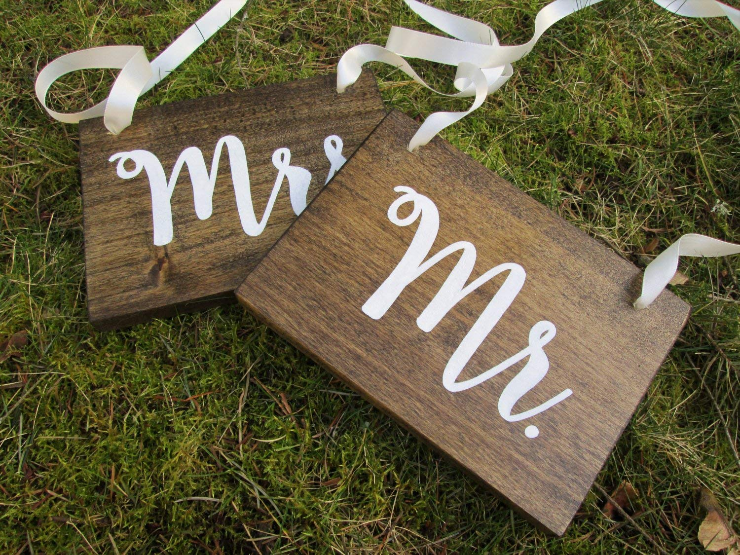 Wooden Wedding Signs.Amazon Com Mr And Mrs Sweetheart Table Signs Wood Wedding