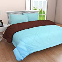 Clasiko Reversible Double Bed King Size Comforter/Duvet for Summers/Ac; Color - Tempting Taupe & Pretty Peach; Fabric - Micro Cotton; 300 GSM; Size - 230x254 Cms; Color Fastness Guarantee