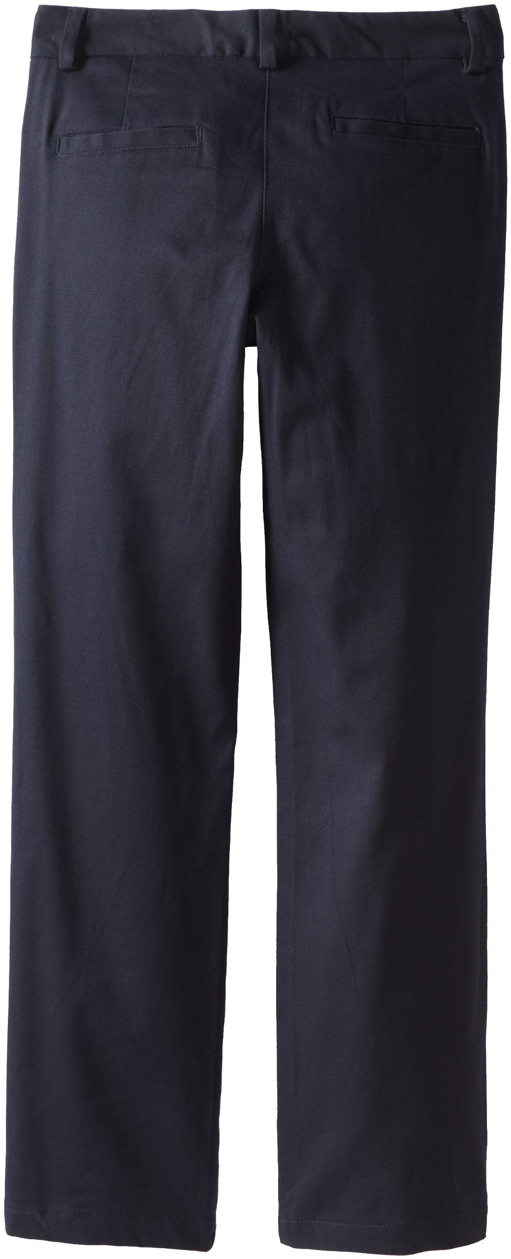 Nautica Big Girls' Uniform Stretch Twill Bootcut Pant, Su Navy,7 by Nautica (Image #2)