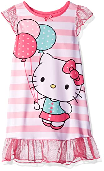 9dd7a2fa1 Hello Kitty Toddler Girls' Pink Striped Dorm Nightgown, Pink, 2T:  Amazon.ca: Clothing & Accessories