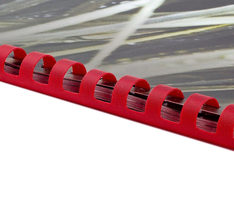 Plastikbinderücken 21 Ringe 19mm gelb