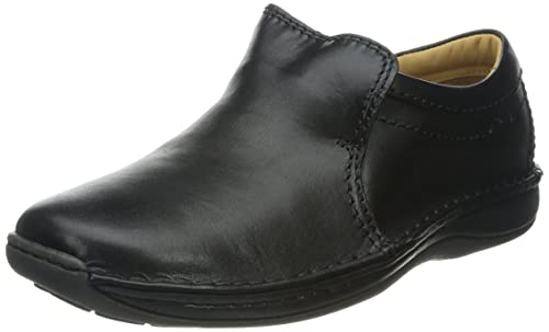 Clarks - Mocasines de cuero para hombre negro negro, color negro, talla 7 UK: Amazon.es: Zapatos y complementos
