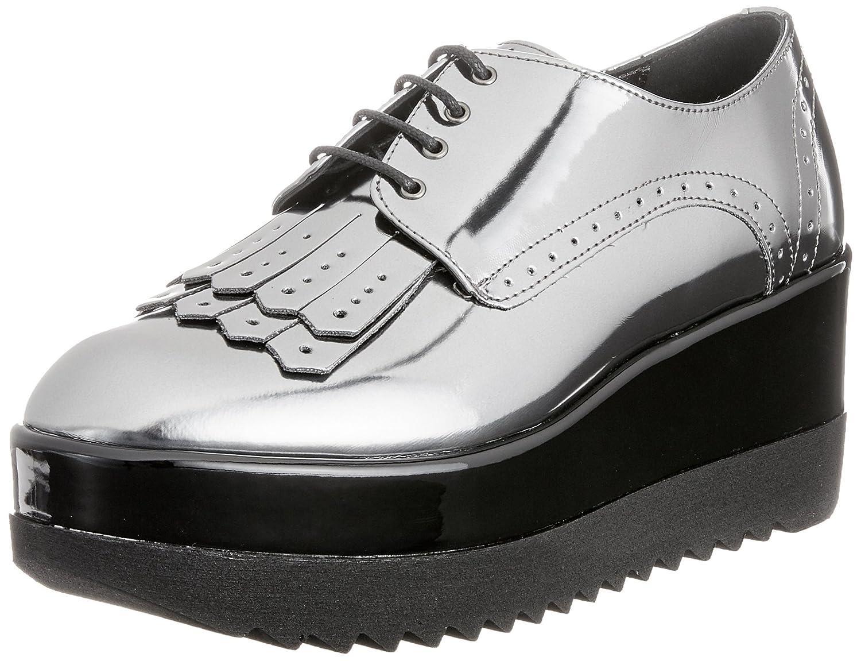 Pollini W.Shoe, Zapatos de Cordones Derby para Mujer 38 EU|Multicolor (Multicolore)