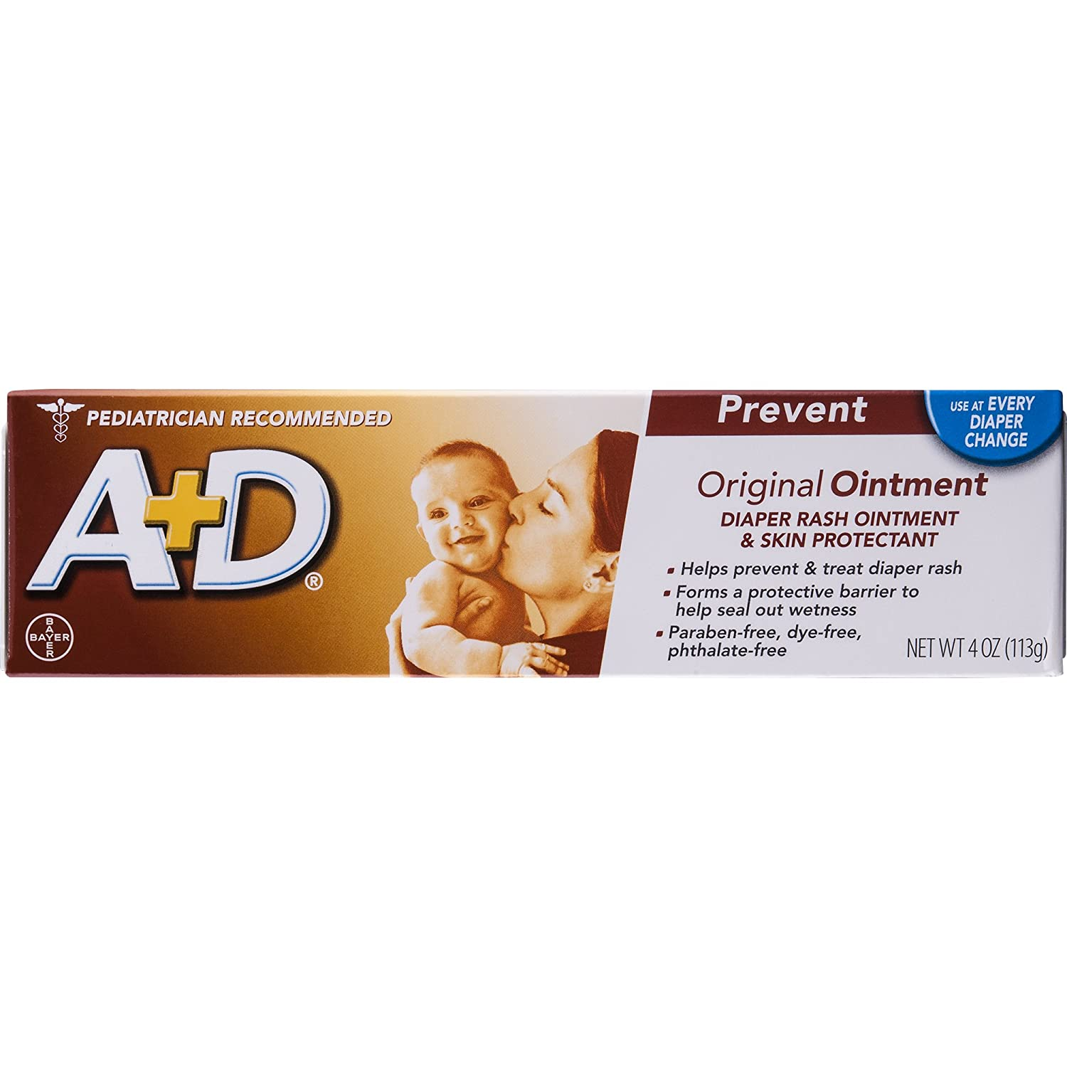 A+D Original Diaper Rash Ointment, Baby Skin Protectant With