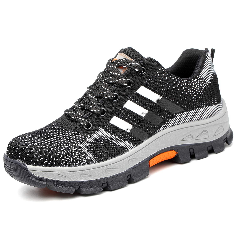 COOU Calzado de Seguridad para Hombre Transpirable Ligeras S3 Calzado de Trabajo para Comodas: Amazon.es: Zapatos y complementos