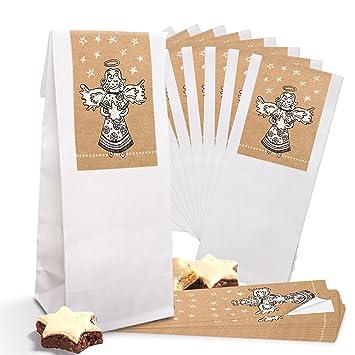 25 pequeñas bolsas de papel con suelo para galletas ...