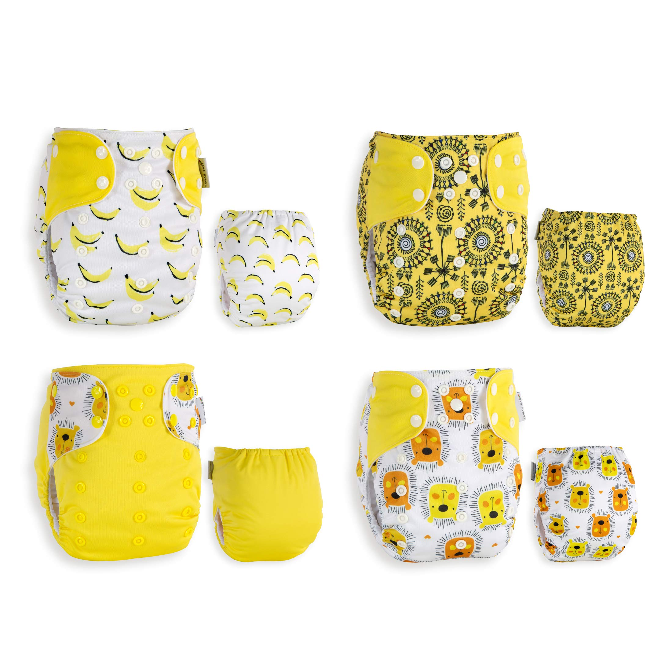 Best Seller! KaWaii Baby 20 One Size Printed Snap Cloth Diaper Shells/Spring Sunshine Theme/Reusable/Newborn to Toddler by Kawaii Baby (Image #2)