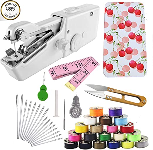 Mini maquina de coser portatil de mano e kit de costura portátil ...