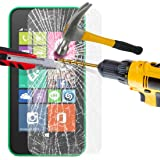 Nokia Lumia 530 Tempered Glass Crystal Clear LCD Screen Protector Guard & Polishing Cloth SVL37 BY SHUKAN®, (Tempered Glass)