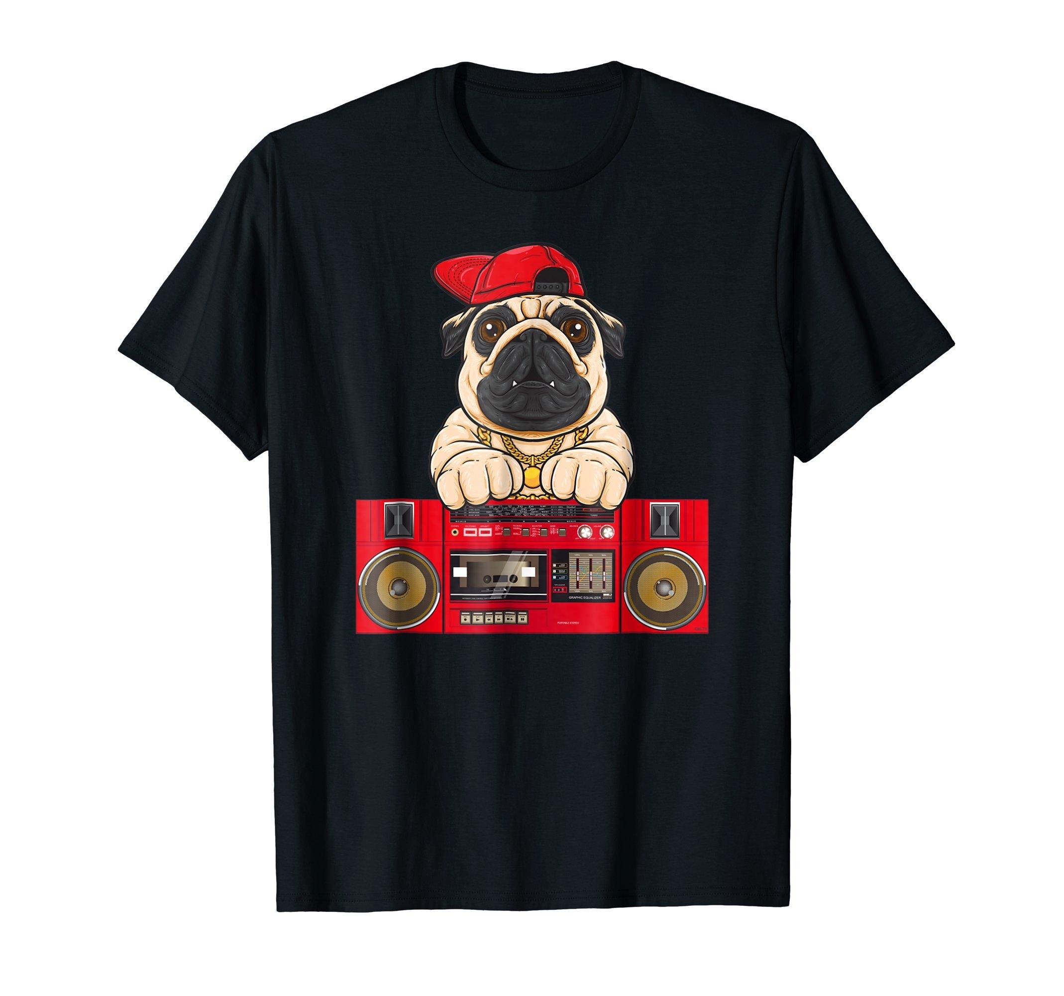 Pug-Hip-Hop-Funny-Humor-T-Shirt-Shirt-Tee-Gift