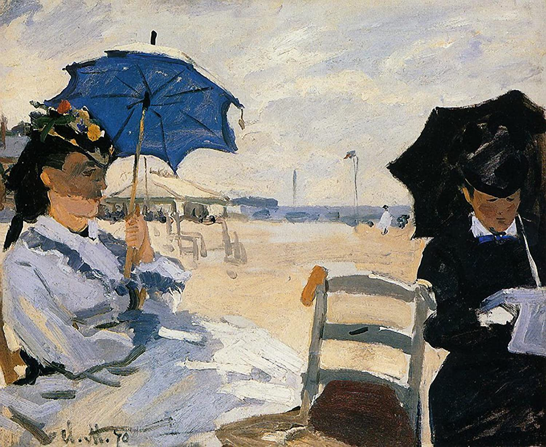 The Beach At Trouville Canvas Claude-Oscar Monet
