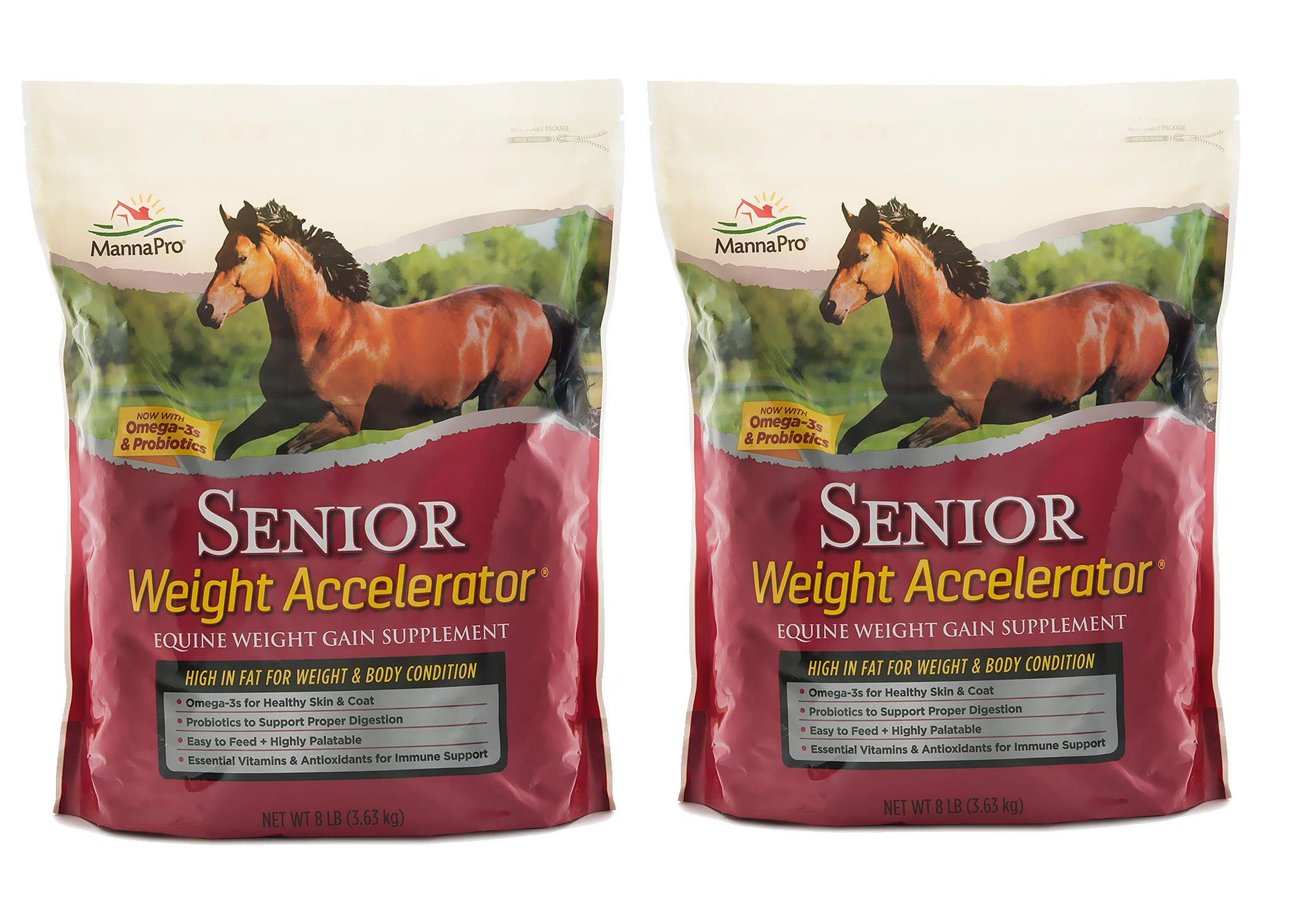 Manna Pro Senior Weight Accelerator for Horses, 8 Pounds (Pack of 2) by Manna Pro