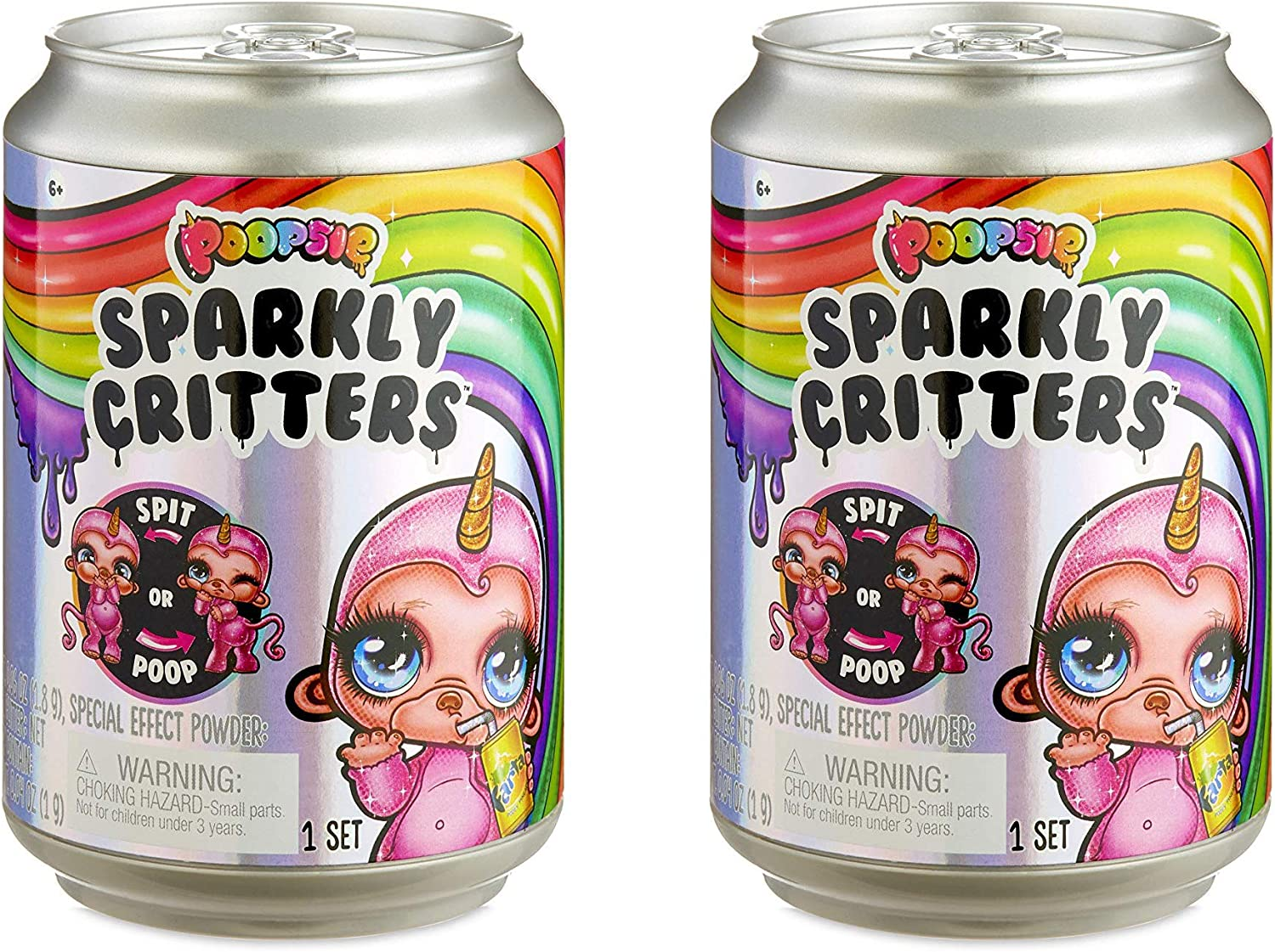 1 Can Poopsie Sparkly Critters New Sealed