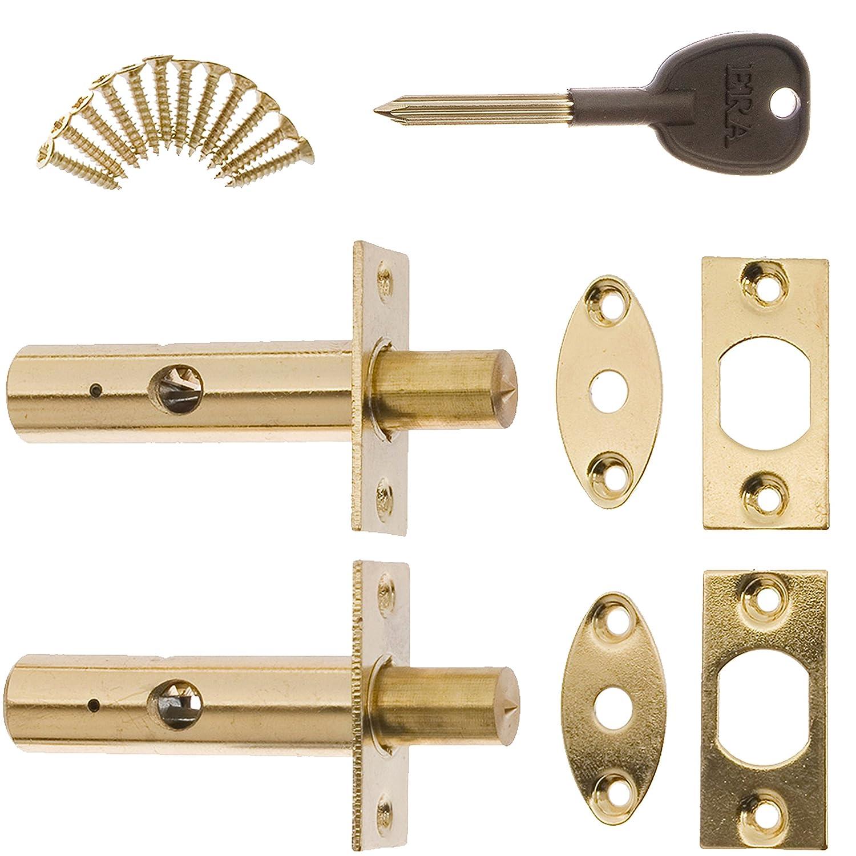 Ottone di alta sicurezza morto Bolt /& Star Key porta//finestra Frame Lock