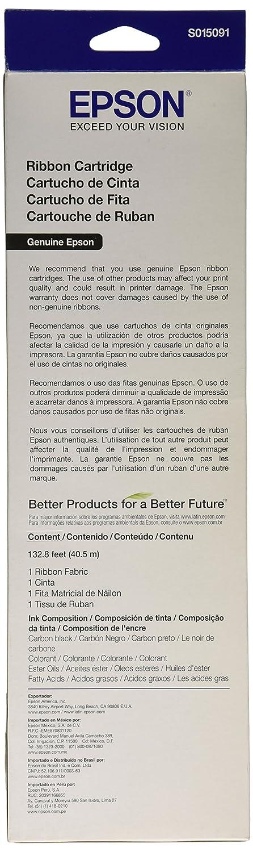 Amazon.com: Epson S015091 Black Ribbon Cartridge for FX-980 ...