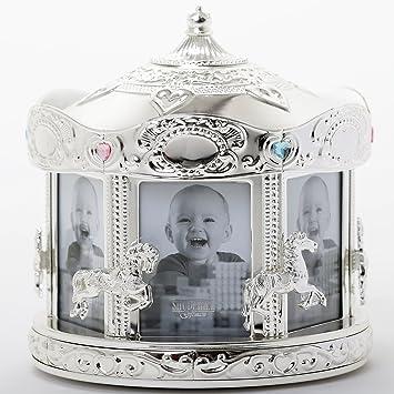 Amazon.com: Giratorio Carrusel marco de fotos de bebé por ...