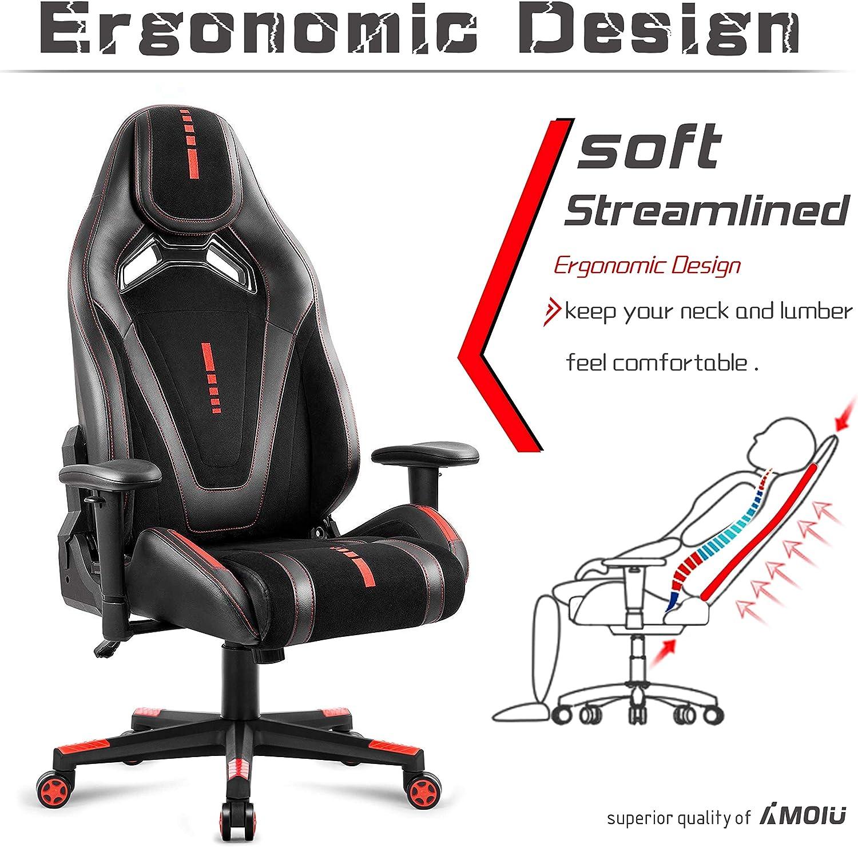 Amoiu Racing Sedia da Gioco Sedia ergonomica Ufficio ...