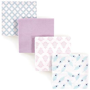 Spasilk 2 Cotton Muslin Baby Girl Swaddle Receiving Blankets Pink Hearts Layette