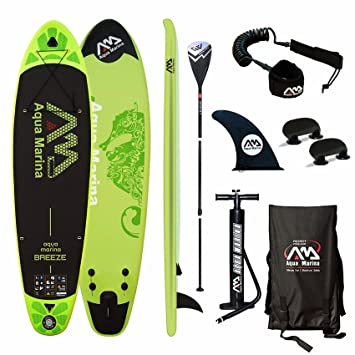 Aqua Marina Breeze Tabla de Paddle Board Sup, (Verde Paddle + Bomba + Correa): Amazon.es: Deportes y aire libre