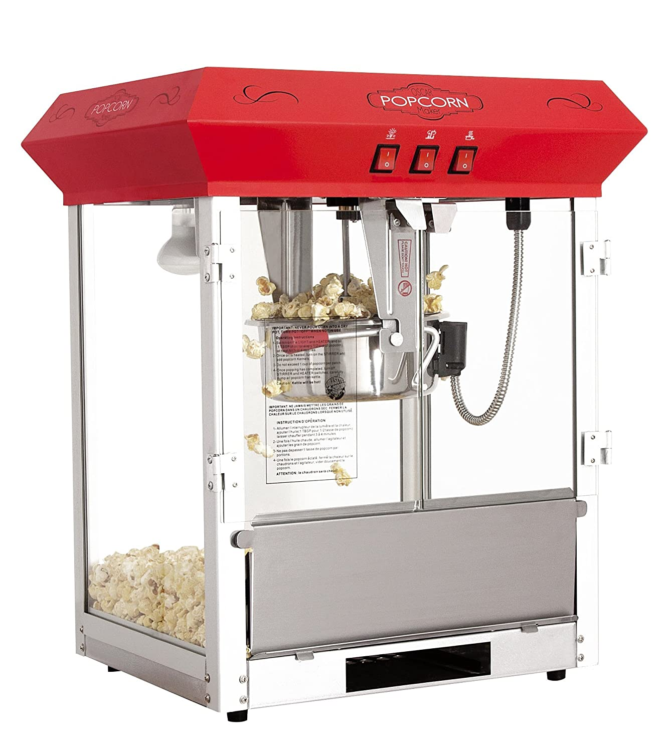 Bullseye Popcorn Machine 8 oz. tabletop