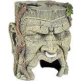 Pet Ting Ancient Face Statue acquatiche Ornamento–Decorazione Acquario–Vivarium Decorazione