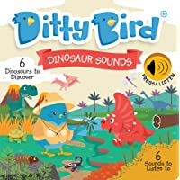 DITTY BIRD Educational Interactive Dinosaur Sounds and Musical Rhyme Book for Babies. Dinosaur Toys for 2 Year olds…