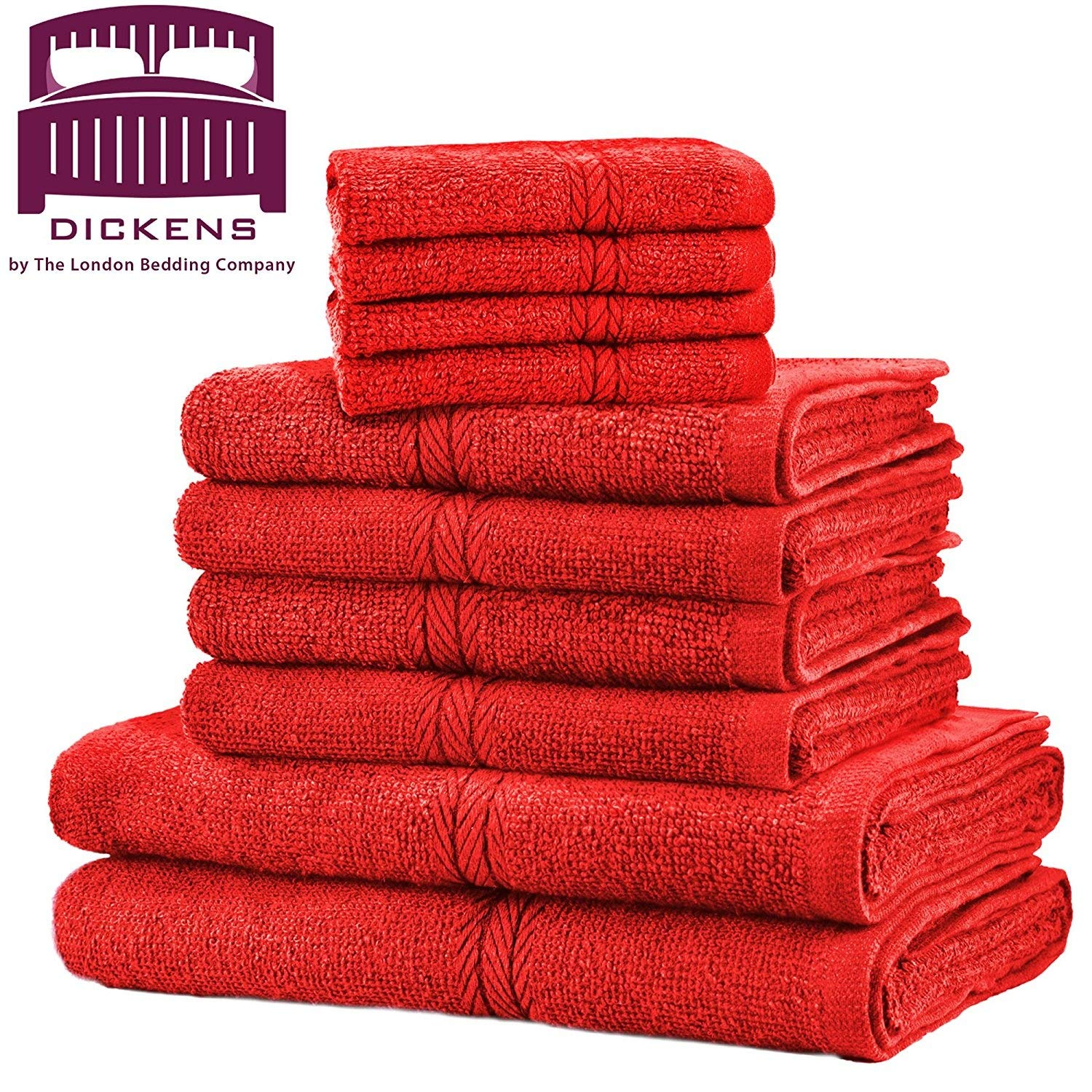 DICKENS LUXURY TOWEL BALE SET 100% EGYPTIAN COTTON 10PC FACE HAND BATH TOWELS (Black) Evelyn Living