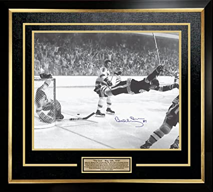 Bobby Orr The Goal Signed 16x20 Framed Photo - Boston Bruins at ...