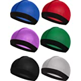 Syhood 6 Pieces Elastic Band Silky Wave Caps for Men Silk Material for 360 540 and 720 Waves