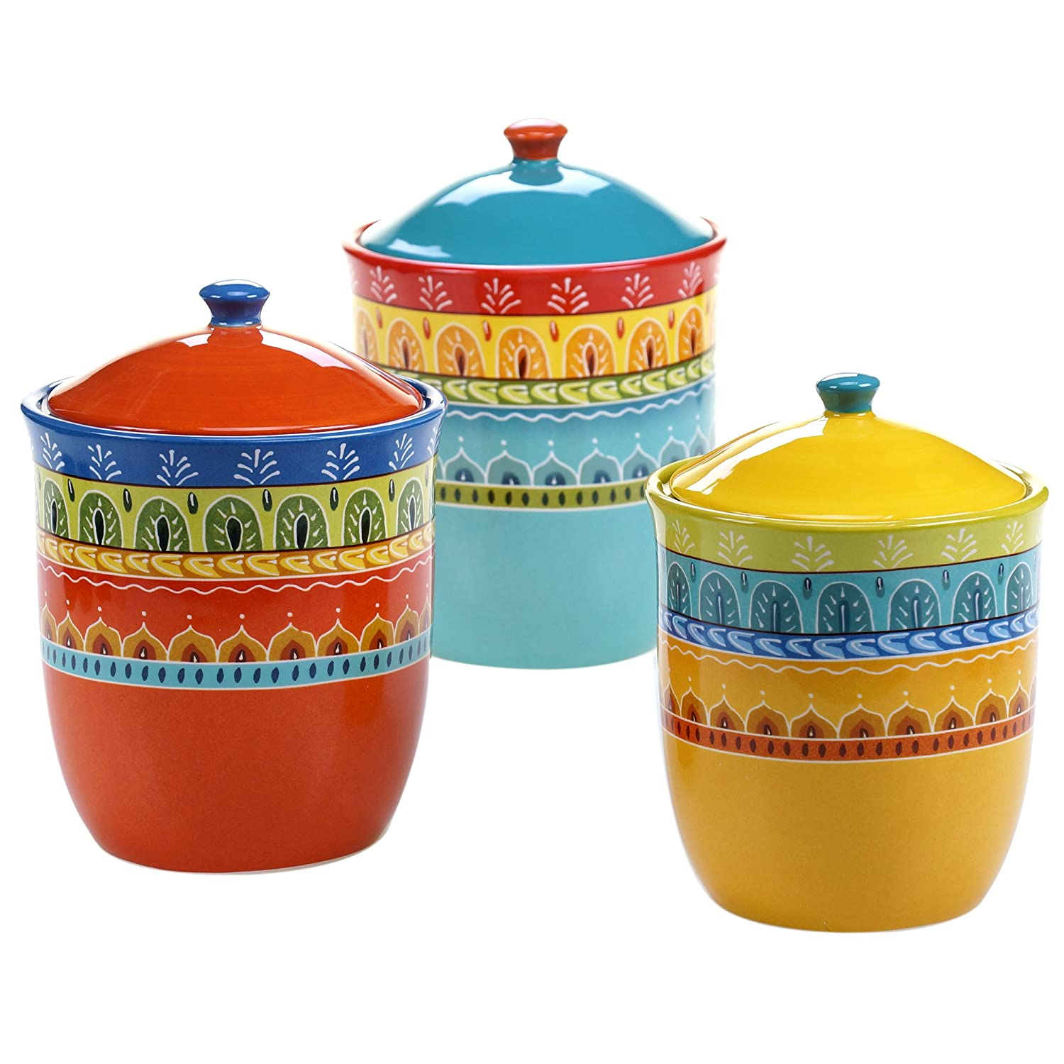 Amazon.com: Certified International 3 Piece Valencia Canister Set ...